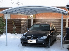 modischer carport aus aluminium bei tms bautz. Black Bedroom Furniture Sets. Home Design Ideas