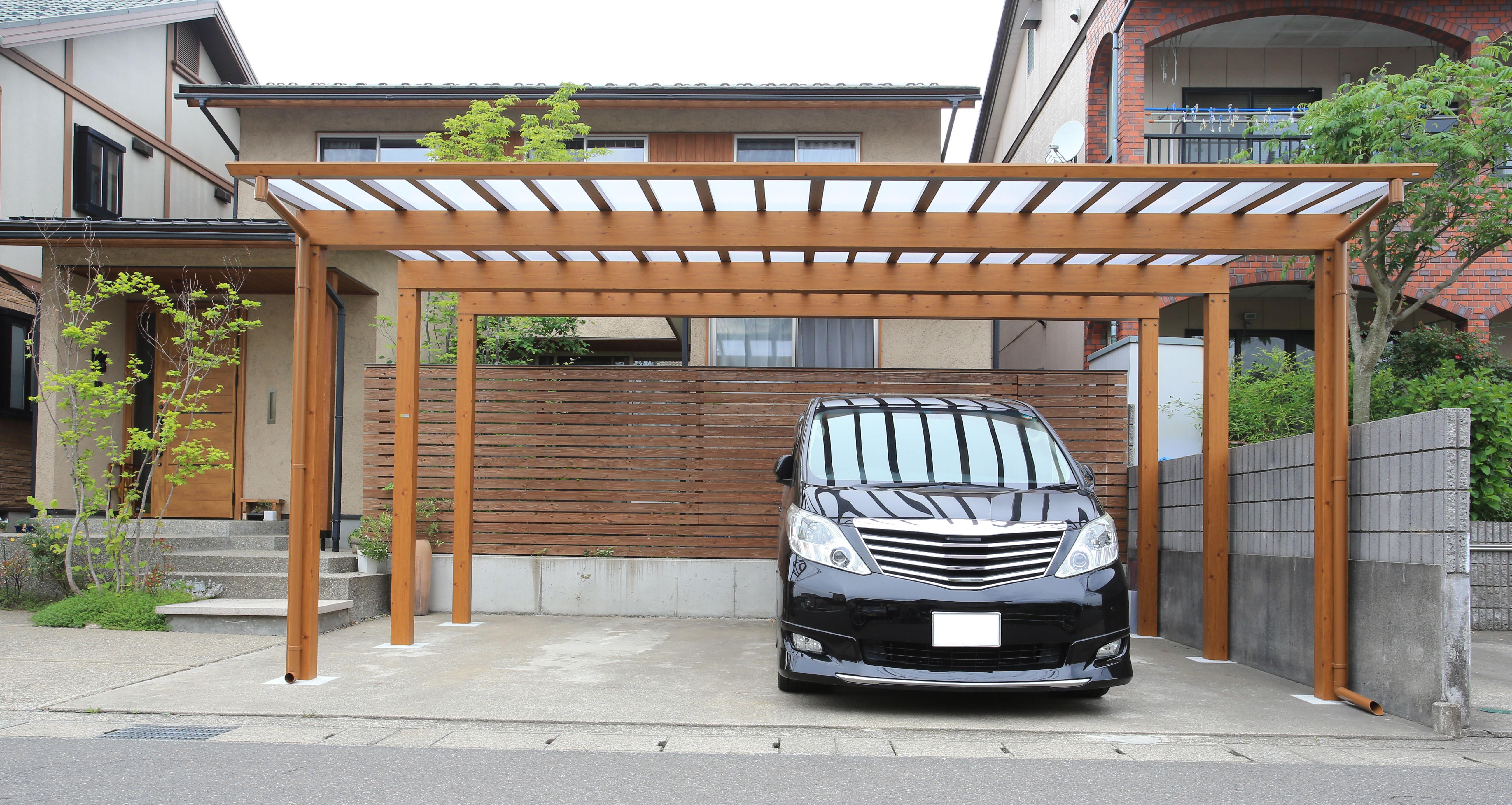 Carport aus Aluminium - Holzoptik - TMS-Bautz GmbH
